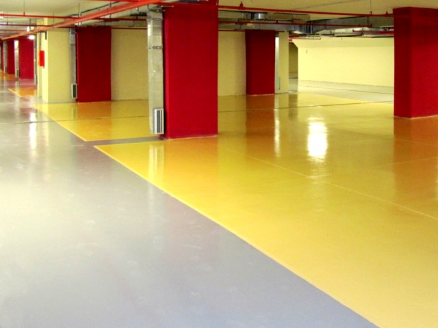 Epoxy coatingsProtective and aesthetic coating floors in industrial buildings, manufacturing facilities, storage areas, garages ... It meets HACCP requirements.